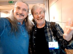 Matthew with George Massenburg, at AES in Paris.