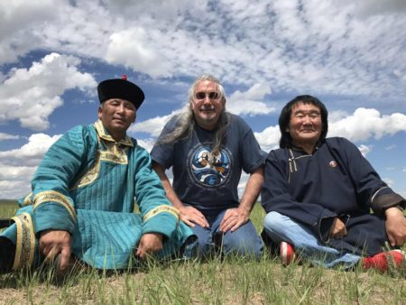Matthew with musicians in Mongolia